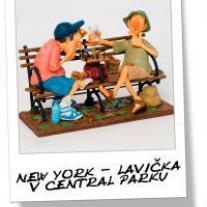 New York - lavička v Central parku